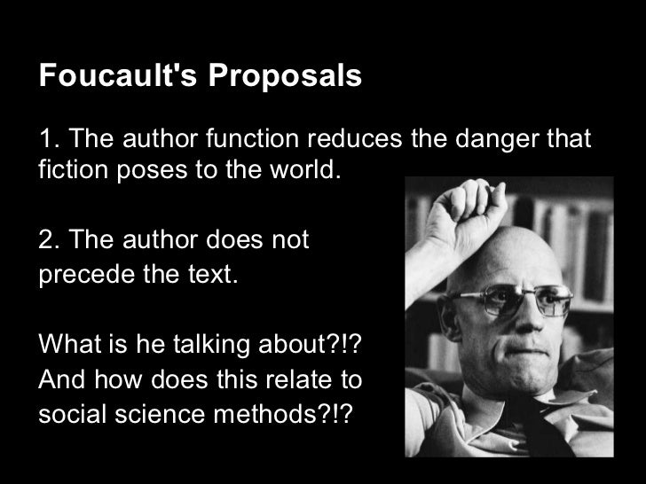 What does Foucault mean by