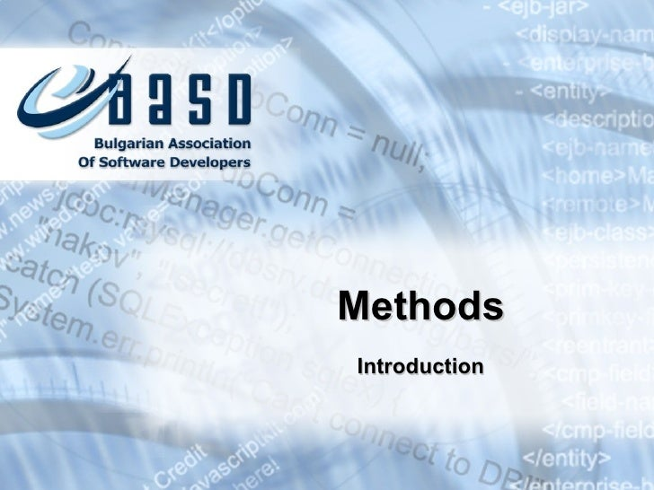 Introduction Methods