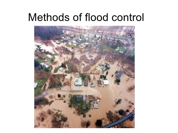 Methods of flood control