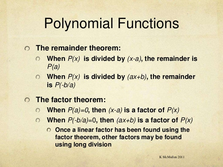 Methods2 polynomial functions – The Remainder Theorem Worksheet