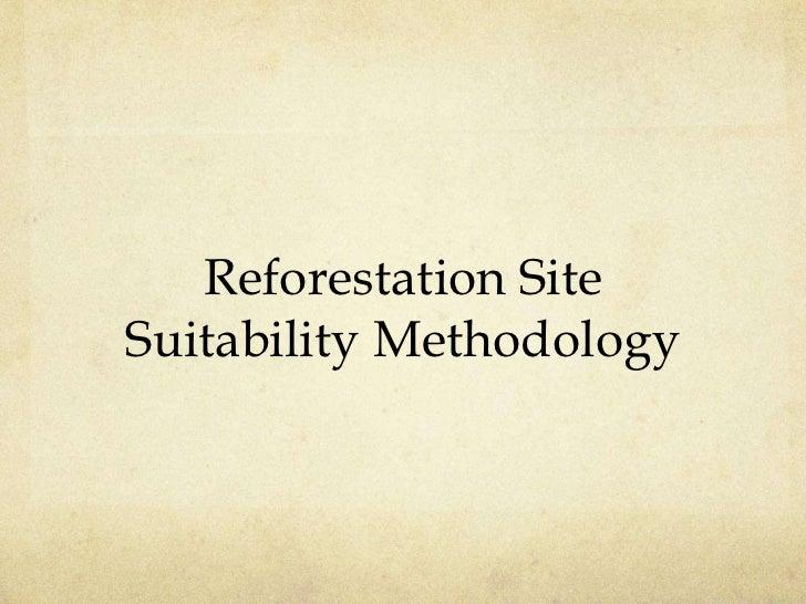 Reforestation SiteSuitability Methodology
