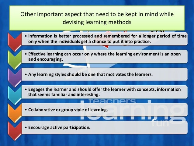 Methods and Function of Effective Learning