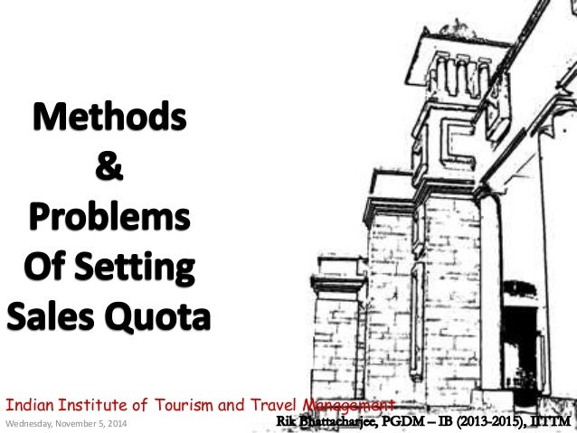 methods of setting sales quota