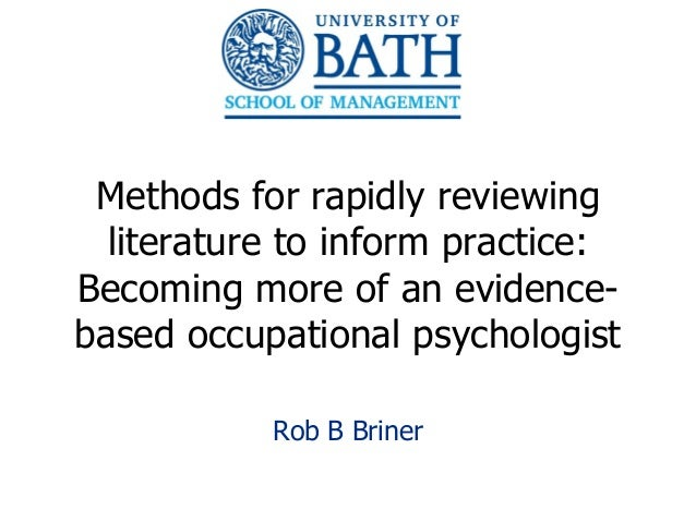 Research and Evidence Based Practice: Everyone's Responsibility