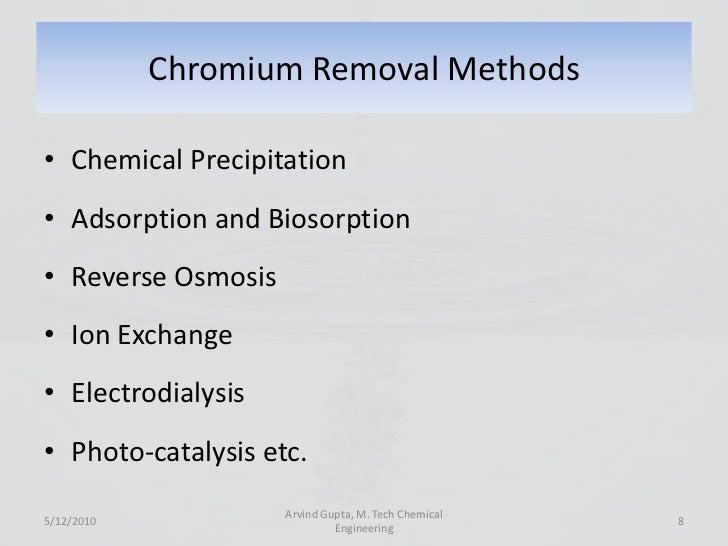 chromium removal