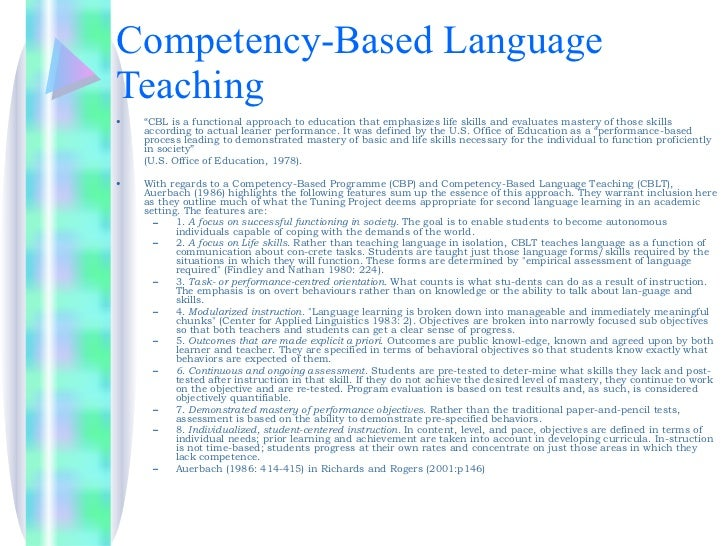thesis on teaching competency