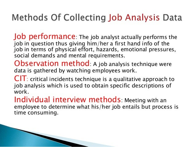 job analysis methods pdf