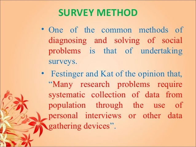 definition of survey in sociology
