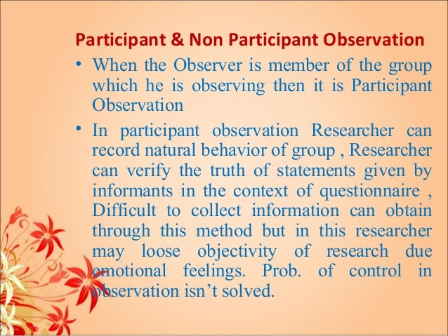 importance of participant observation