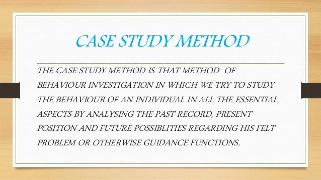 psychology and case study methods A case study in psychology is a descriptive research approach used to obtain in-depth information about a person, group, or phenomenon it is different from survey research, which involves asking a group of participants questions through interviews or questionnaires.