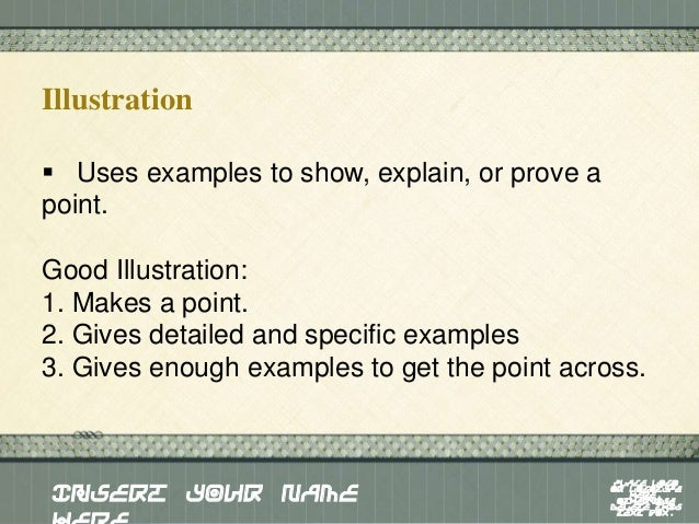 illustration paragraph topics