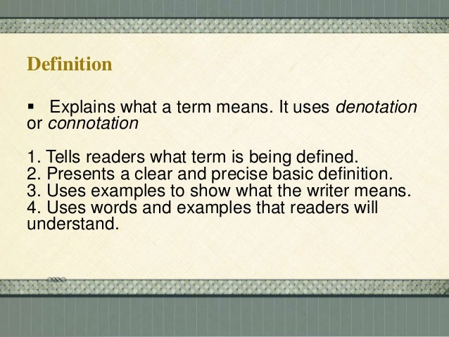 example of definition paragraph