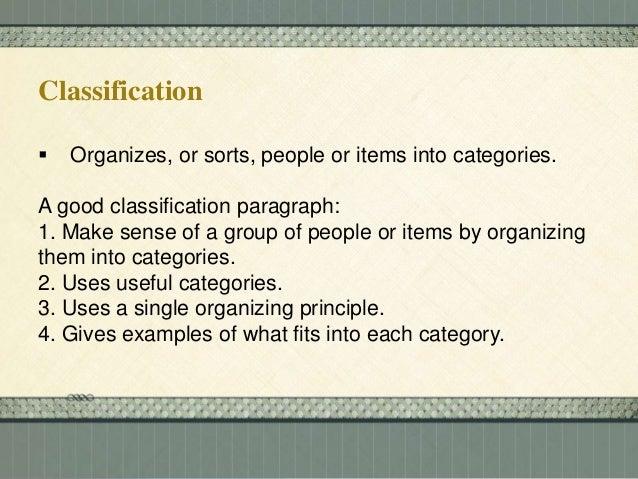 definition method of paragraph development