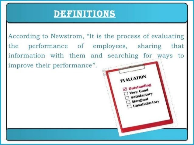 performance appraisal compensation process essay More than likely, the performance management system deloitte has   predictability of this process and the fact that because each person is   performance, particularly through variable compensation.