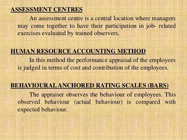 assessment centre method of performance appraisal