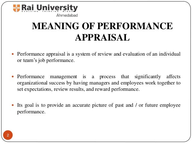 Approaches to performance appraisal