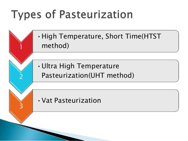 Methods of pasteurization.