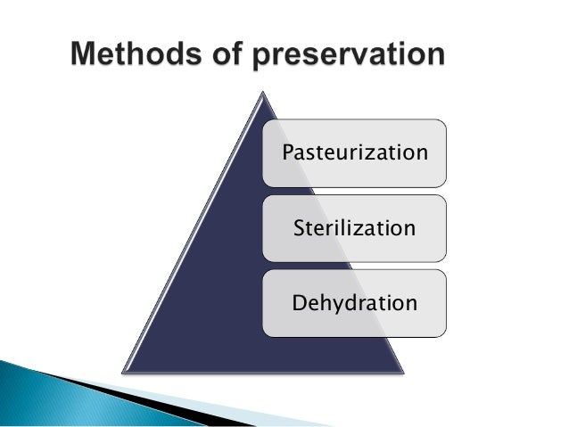 Dairy Microbiology. Methods of preservation of milk and ...