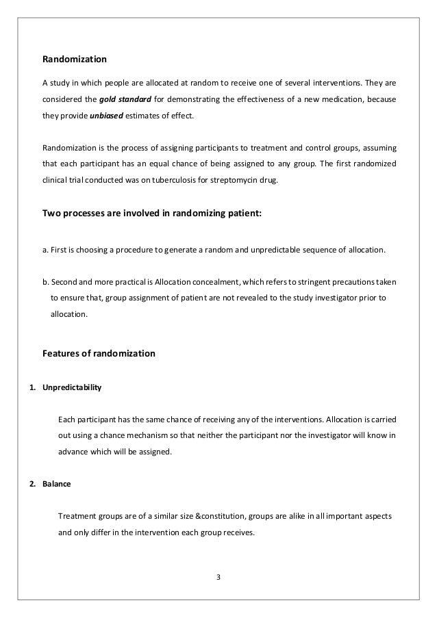 Methods of randomization final Slide 3