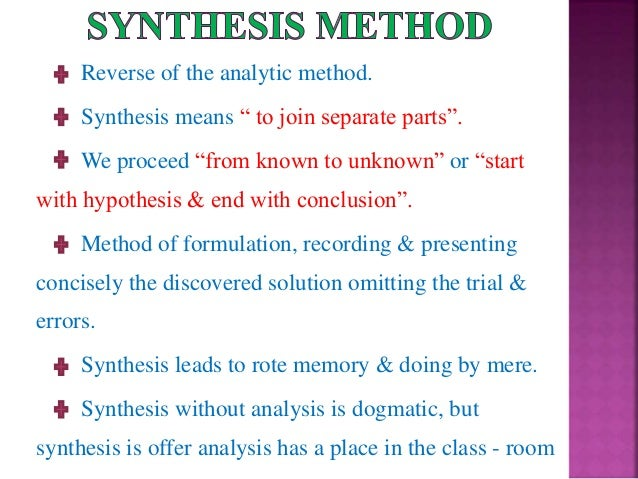 what synthesis means