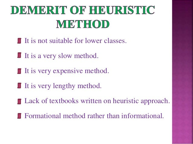 Heuristic method.