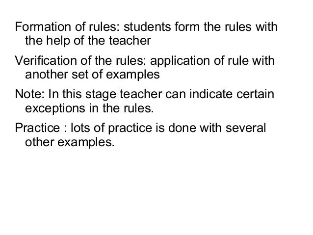 Whataretheadvantagesofencouraginglearnerstoworkrulesoutfor themselves? • Rules learners discover for themsel...