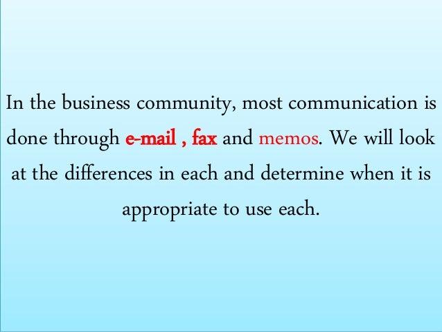methods of written communication