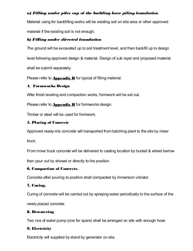 method statement for formwork pdf