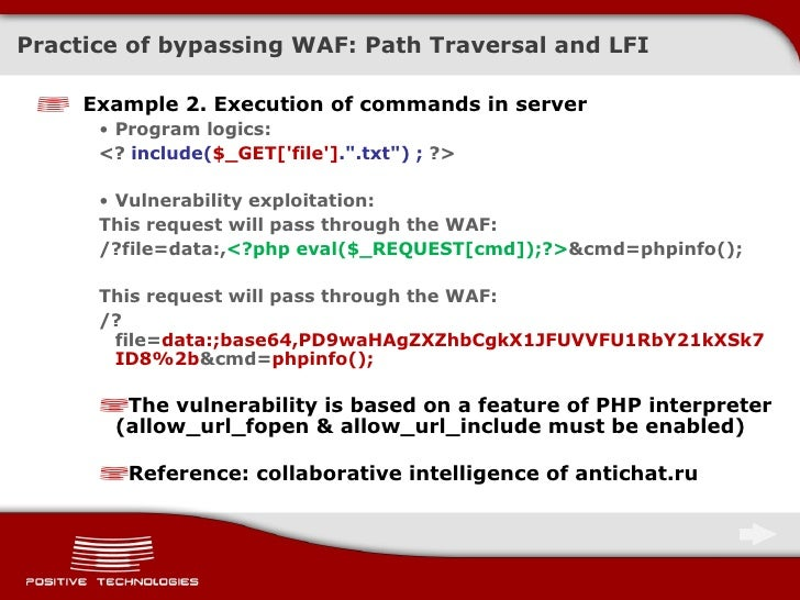 Methods to Bypass a Web Application Firewall Eng