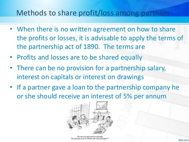 Methods to share profit or loss among partners