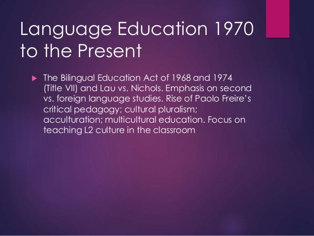 an analysis of the bilingual education act The act was originally the bilingual education/elementary and secondary education act of 1964-5 the act mandates that each state must measure every public school student's progress in reading and math from the third grade through the eighth grade.