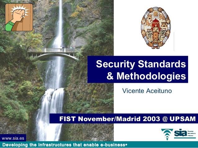 Security Standards                                           & Methodologies                                              ...