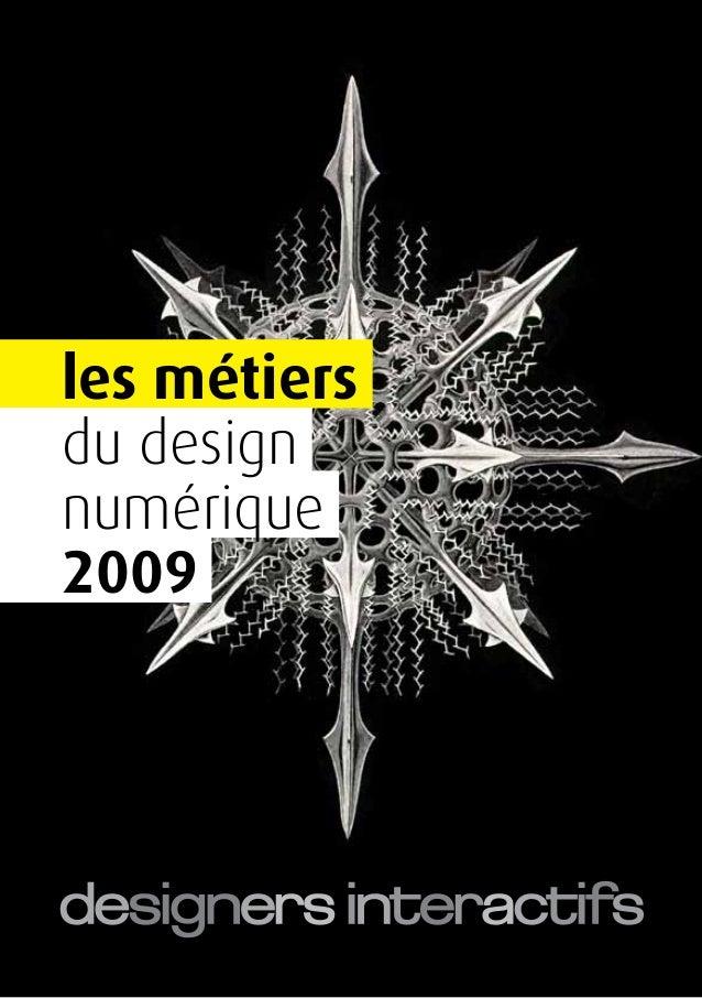 les métiers du design numérique 2009