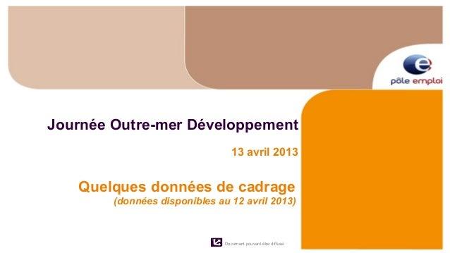 Journée Outre-mer Développement                                  13 avril 2013   Quelques données de cadrage        (donné...