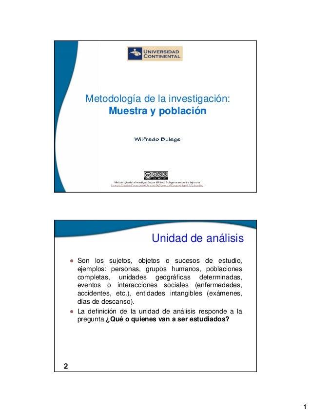 1  Metodología de la investigación: Muestra y población  Metodología de la Investigación: por Wilfredo Bulege se encuentra...