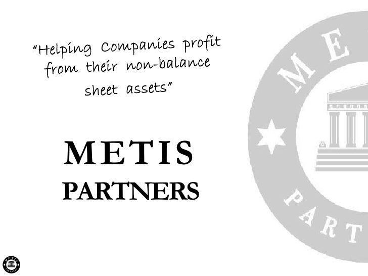 Metis Partners - What we do