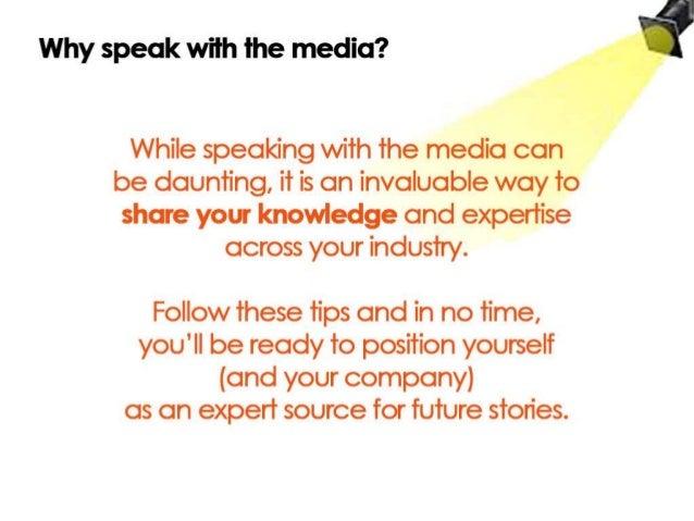 The Art of the Media Interview Slide 3