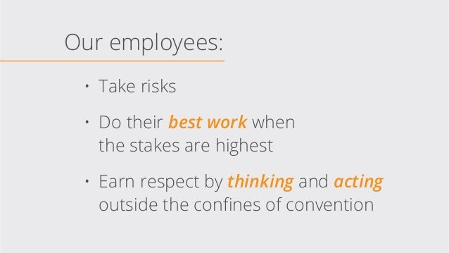 Culture Declaration: What it means to do our best work ever Slide 3