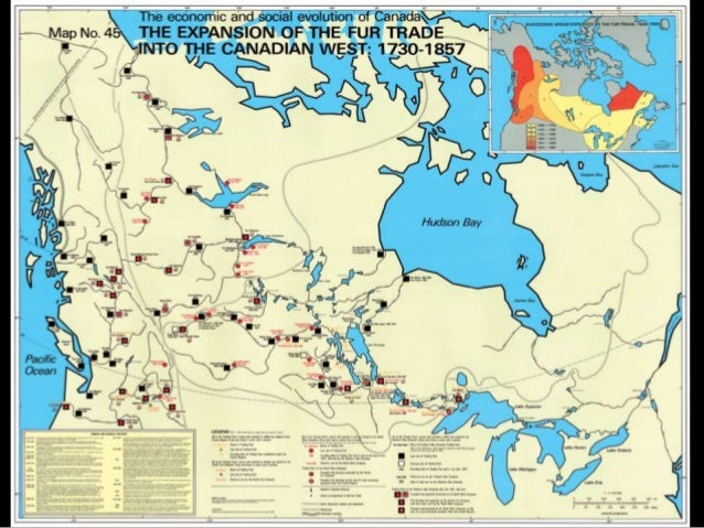 Map Of Canada Fur Trade.Hudson S Bay Company And Northwest Company And The Fur Trade