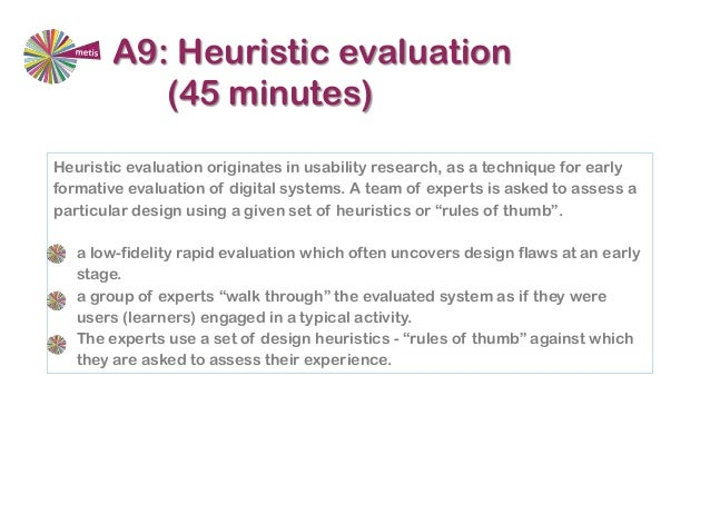 How to design Collaborative learning activities – Heuristic Evaluation Template
