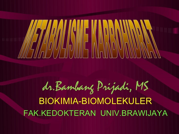 dr.Bambang Prijadi, MS   BIOKIMIA-BIOMOLEKULERFAK.KEDOKTERAN UNIV.BRAWIJAYA