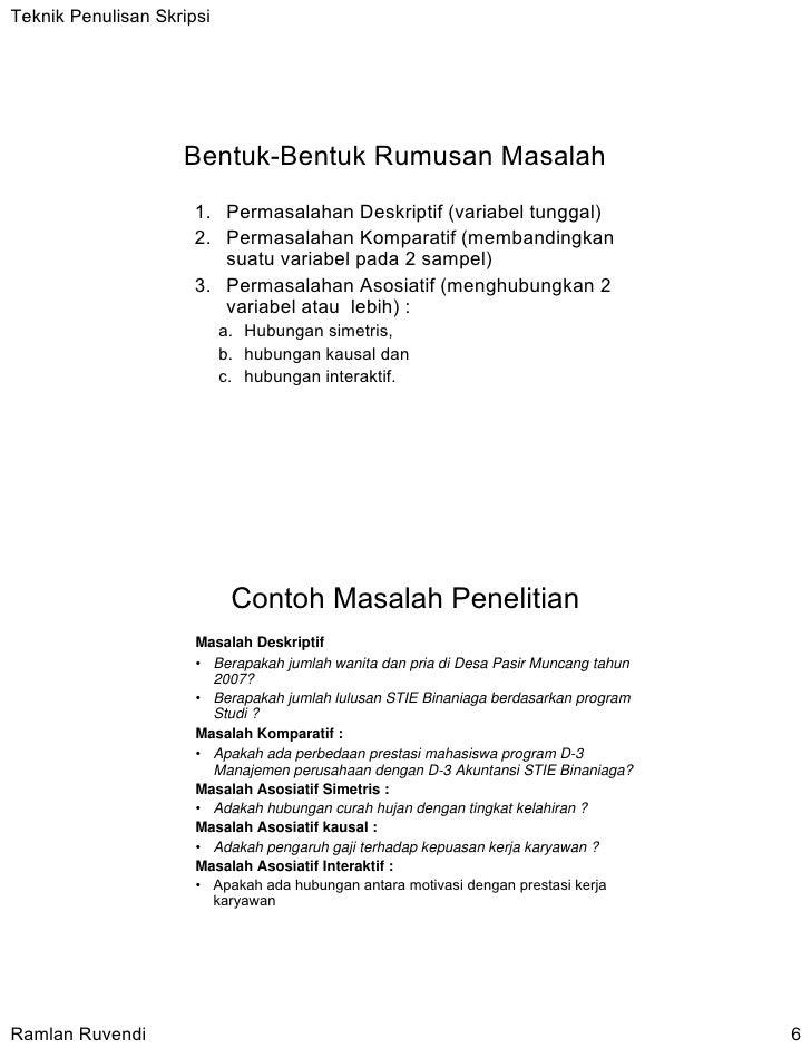 Contoh Skripsi Variabel Tunggal Contoh Soal Dan Materi Pelajaran 8