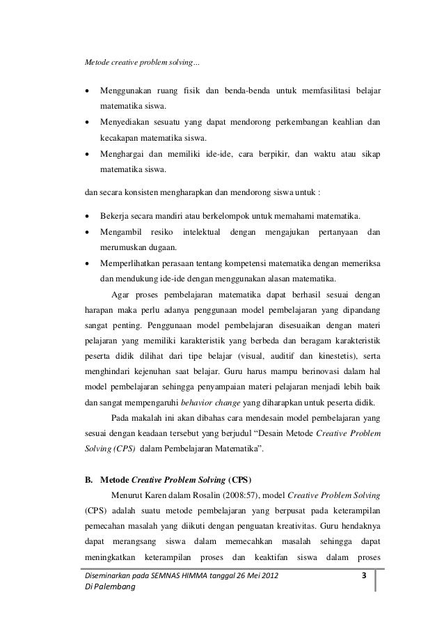 contoh proposal ptk matematika problem solving