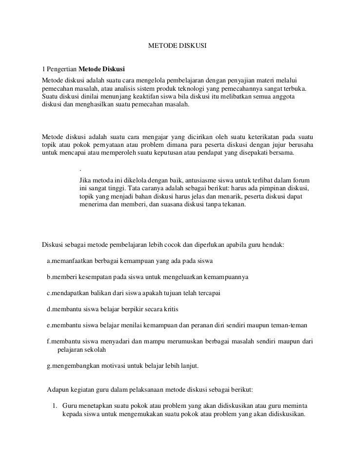 METODE DISKUSI1 Pengertian Metode DiskusiMetode diskusi adalah suatu cara mengelola pembelajaran dengan penyajian materi m...