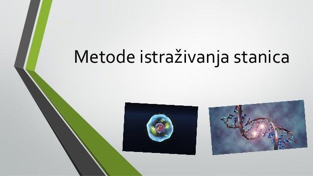 Metode istraživanja stanica
