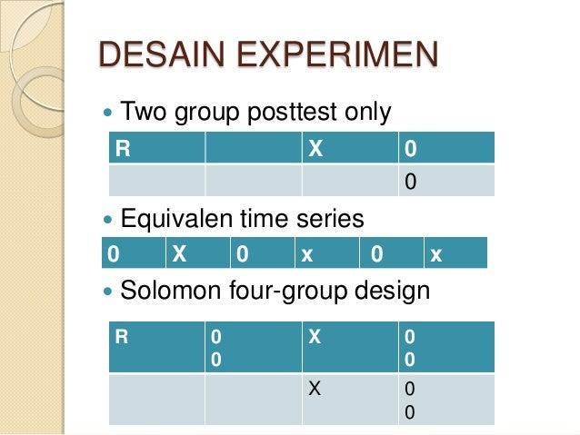Jenisjenis Dan Desain Rancangan Penelitian Eksperimen