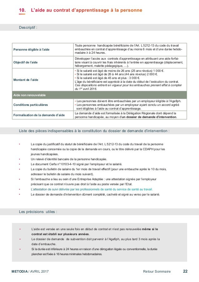 dossier de subvention agefiph