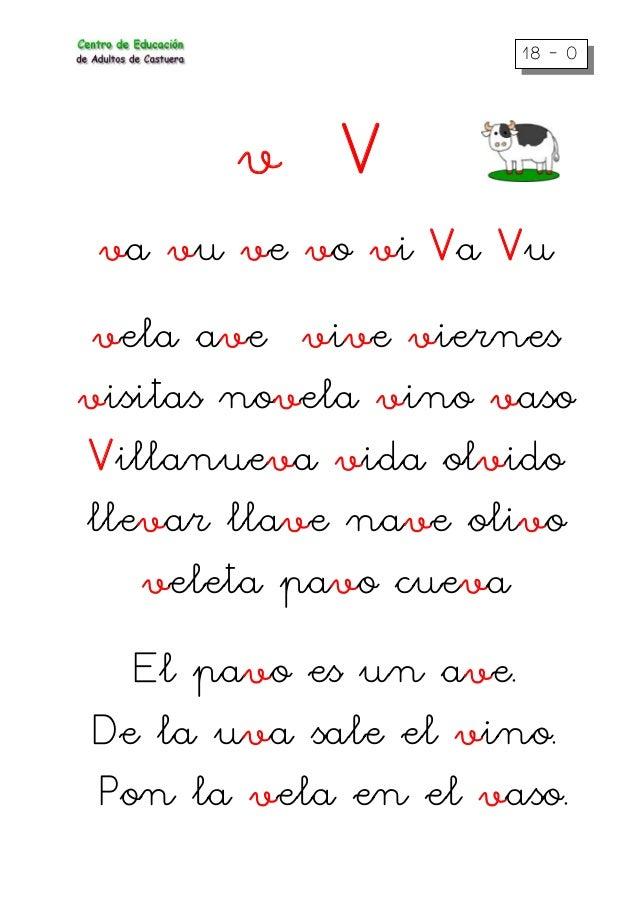 18 – 0 v V va vu ve vo vi Va Vu vela ave vive viernes visitas novela vino vaso Villanueva vida olvido llevar llave nave ol...