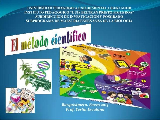 """UNIVERSIDAD PEDAGOGICA EXPERIMENTAL LIBERTADORINSTITUTO PEDAGOGICO """"LUIS BELTRAN PRIETO FIGUEROA""""      SUBDIRECCION DE INV..."""