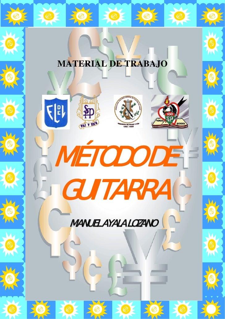 Material de Trabajo para Colegios                  MATERIAL DE TRABAJO               MÉTODO DE           GUITARRA         ...